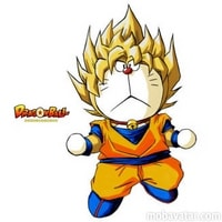 Doraemon-Goku fusione impossibile Dragon Ball Z