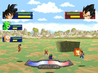 Dragon Ball Z: The Legend - Combattimento in aria